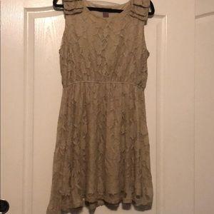 ♥️ Ultra Pink Beige Lace Tank Dress size XL.